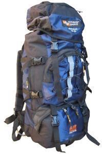 Air-Cool-Rucksack-60L-65L-Travel-Backpack-Bag-Hiking-Camping-Travel-Blue-Pack