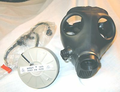 ISRAELI GAS MASK (Adult Size) w/ Filter & Drinking Straw-(NEW)