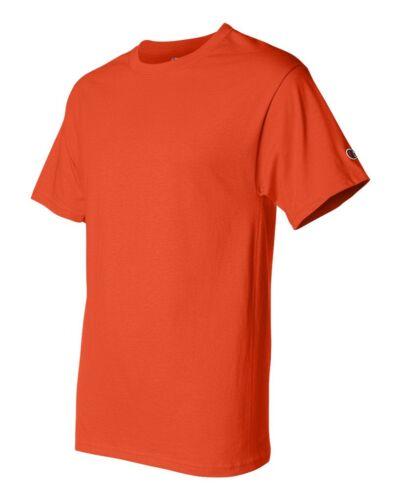 Champion Sports Mens Size S M L XL XXL 3XL 100/% Cotton Tagless Tee T-Shirt
