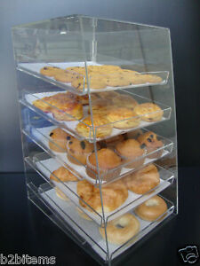 Acrylic-Pastry-Bakery-Donut-CUPCAKE-Stand-Display-Case-with-5-trays
