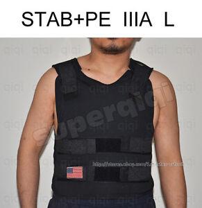 Stab-PE-Bullet-Proof-Bulletproof-Vest-body-armor-coat-NIJ-level-IIIA-3A-L