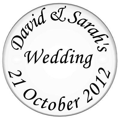70 Personalised CLEAR  Wedding Invitation Seals