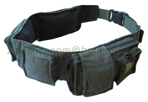 Army Combat Military Utility Day Waist Belt Travel Bum Bag Money Pack Surplus