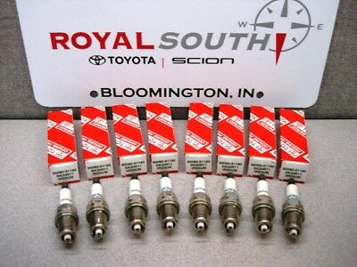 Toyota V8 4.7L 4Runner Tundra Land Cruiser Iridium Spark Plugs Genuine OEM OE