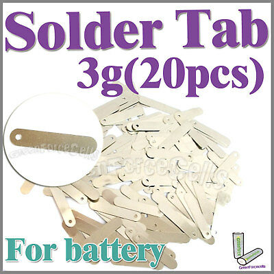3g 20 pcs Solder Tab For Sub C AAA 14500 18650 AA Battery Cell