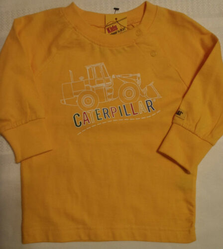CATERPILLAR Cat Baby Boys 6 12 18 Month Long Sleeve Shirt NWT Red Yellow Choice