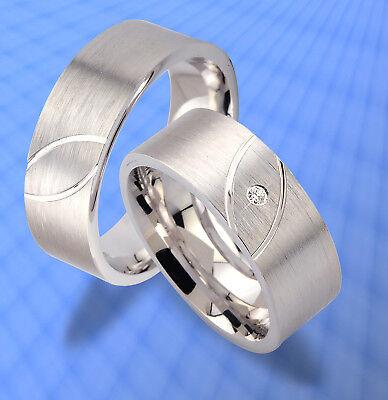 Ehrlich Trauringe Eheringe Bicolor Silber Verlobungsringe Jk9-1 Die Neueste Mode
