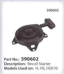 recoil starter assy tecumseh craftsman 590473 590602