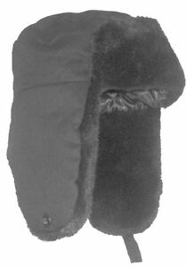 MENS-GREY-FUR-TRAPPER-HAT-Russian-cossack-winter-snow-hat-camping-outdoors