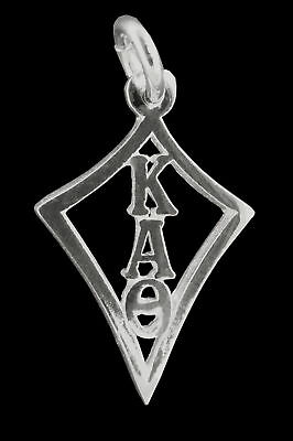 Kappa Alpha Theta, ΚΑΘ, Lettered Kite Charm Pendant .925 Sterling Silver