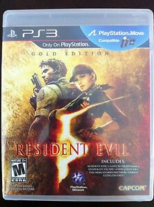Brand-NEW-Sealed-Resident-Evil-5-Gold-Edition-PS3-2010