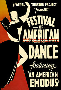 Vintage-POSTER-Stylish-Graphics-American-Dance-Festival-Room-Decor-1017