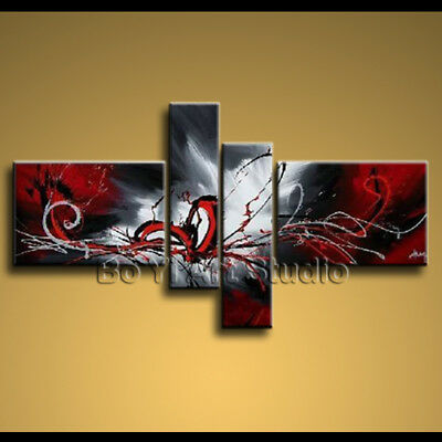 Modern Abstract Oil Painting Large Wall Art Paintings On Canvas Stretcher BoYi