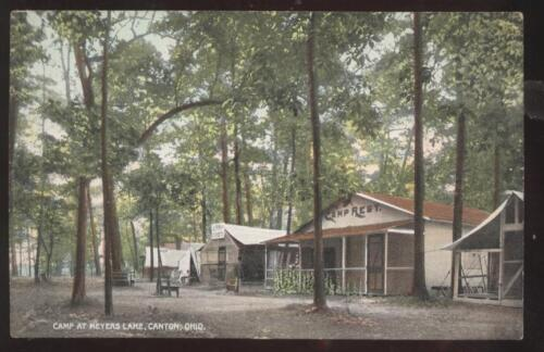Postcard Canton OHIO Meyers Lake Camp Grounds 1907?