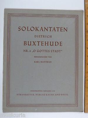 vocal score BUXTEHUDE kantata nr.4 O GOTTES STADT
