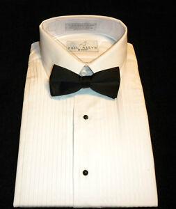 NEW-MENS-WHITE-LAYDOWN-TUXEDO-DRESS-SHIRT-TIE-PICK-SZ