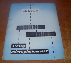 Hilger-amp-Watts-Ltd-Booklet-Brochure-X-Ray-Microphotometer-1956