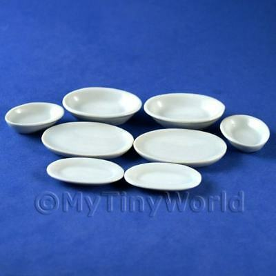 4 x Plates & 4 x Dishes Dolls House Miniatures (3817)