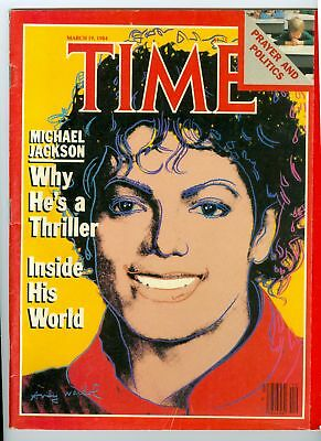 MAGAZINE TIME michael jackson  THRILLER  MARCH 19 1984