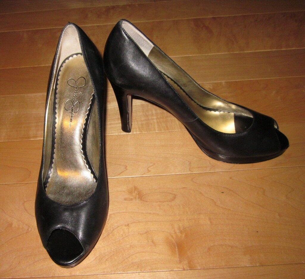 Jessica Simpson Black Peep Toe Pumps Abby 10 Eur 40