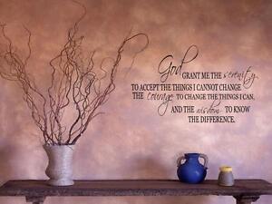"Serenity Prayer Wall Art serenity prayer home bedroom wall art decal words 36"" | ebay"