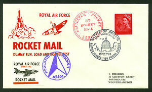 1970 GREAT BRITAIN rocket mail Leicester Rocket Society EZ 123C1