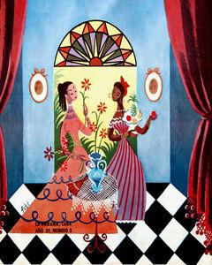 1609-Ladies-enjoying-fruits-and-flowers-vintage-POSTER-Havana-Decorative-Art