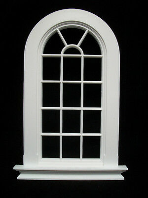 Window: GEORGIAN 6 PANE ROUND TOP WINDOW  Jacksons Miniatures 1/12 scale B21