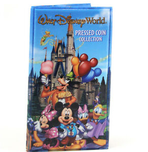 Disney-World-Mickey-amp-Gang-Storybook-Pressed-Penny-Book-Coin-Holder-NEW