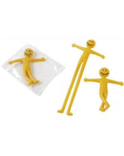 20 Mini Stretchy Men Kids Party Bag Fillers Loot Toys