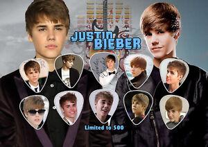 Justin-Bieber-Guitar-Pick-Set-Display-LIMITED-EDITION
