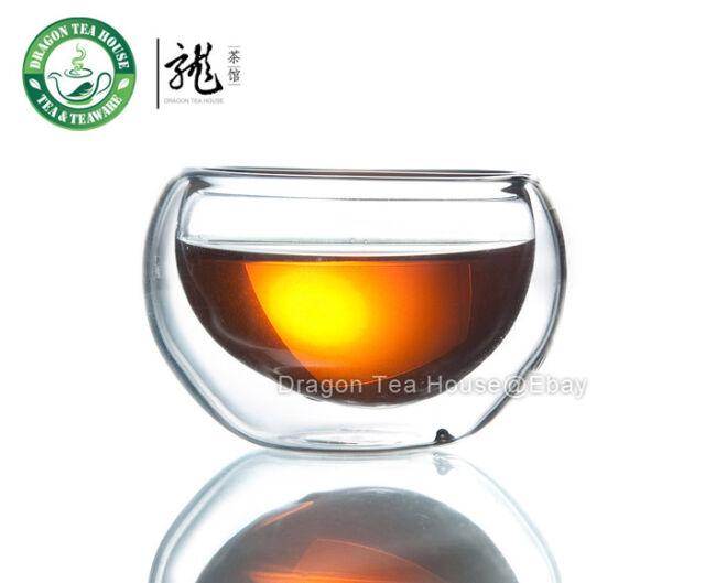 Double-wall Clear Glass Teacup 50ml 1.7 fl oz FH-305B