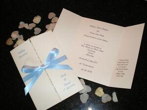 Image Is Loading 50 Personalised Gatefold Wedding Invitations Classic Style