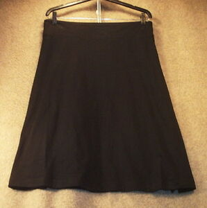 NWT-Womens-M-Skirt-Knit-Cotton-Jersey-Black-Stretch