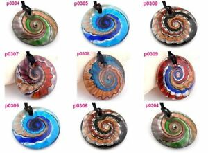 12-Baroque-screw-thread-lampwork-glass-pendant-p304-309