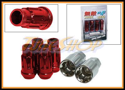 MUTEKI SR48 4 WHEELS LOCK LUG NUTS SET 12X1.25 1.25 ACORN RIMS OPEN END RED S