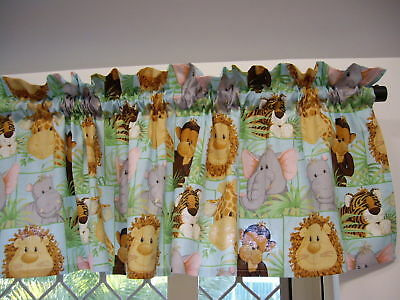 Jungle Babies Nursery Childs Curtain Valance - 100% Cotton
