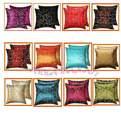 2 Thai Silk Decorative Pillow Cover Cushion Cases Sofa FS