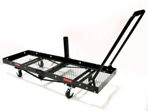 60-034-x-20-034-FOLDING-CARGO-CARRIER-HITCH-MOUNT-DOLLY-CAMPING-RV-PORTABLE-w-WHEELS