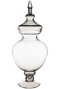 """Clear Apothecary Glass Jar, H-21.5"""" Tall Candy Buffet Wedding Decoration - 1 PC"""