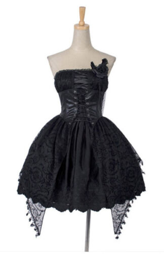 sexy girl fashion lolita goth princess punk nana one piece dress SIZE L-XXL