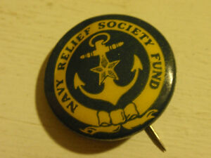 Vintage Navy Relief Society Fund Pin - Anchor & Star | eBay
