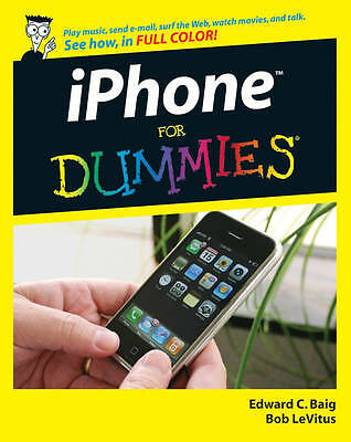 iPhone For Dummies, LeVitus, Bob, Baig, Edward C., Good Book