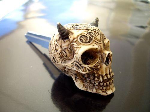 Blank Custom devil Skull Key YAMAHA R1 FJ v star road royal raider,xvs,YZF, FJR,
