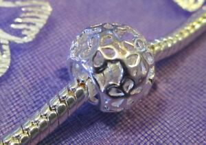 Sterling-Silver-Floral-Charm-Bead-European-Bracelet