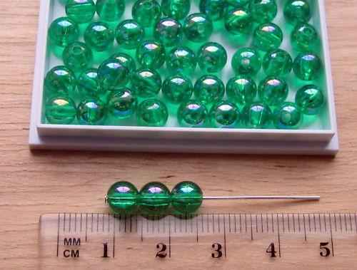 150 Redonda De 6mm Suave AB Transparente Cuentas Plástico Acrílico elige El Color