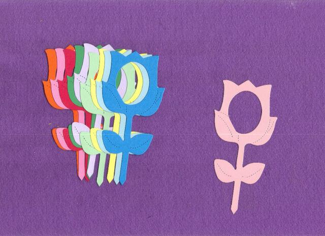 FRAME  TULIP  flower die cuts scrapbook cards