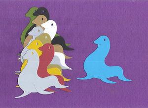 SEAL zoo animal die cuts scrapbook cards