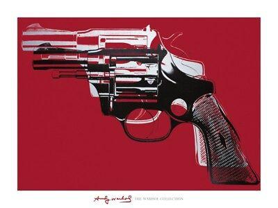 ANDY WARHOL - Guns 1981-82 Red ART PRINT 30x40 Gun Offset Lithograph Pop Poster