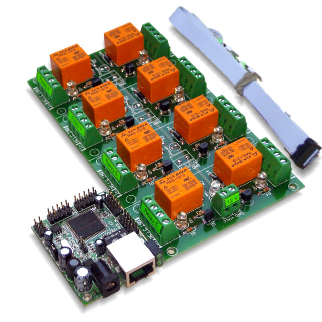 Ethernet / Internet 8 Channel Relay Board - IP, SNMP, Windows / Android Software